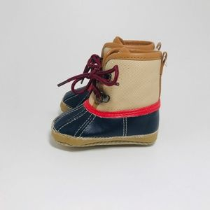 BABY GAP Blonde Tan Blue Red Soft Snow Duck Boot